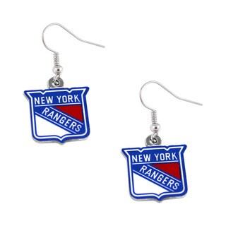 NHL New York Rangers Dangle Logo Earring Set