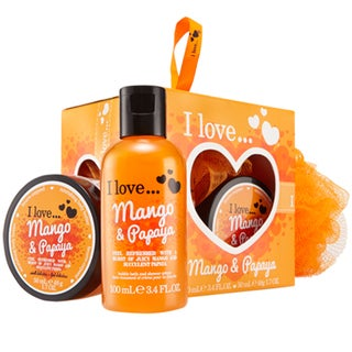 I Love... Mango & Papaya Mini Bubble Bath & Shower Creme Set