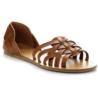 Wild Diva CLOVER-46 Women's D'orsay Flat Sandals