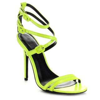 Wild Diva ADELE-163 Women's Criss Cross Strappy Stiletto Heel Dress Sandals