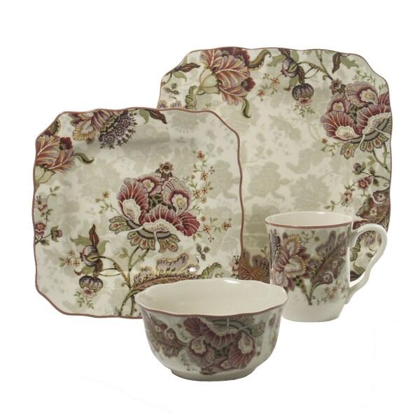 Gabrielle Floral Cream 16-piece Dinnerware Set