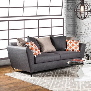 Furniture of America Waylee Contemporary Grey Fabric Sofa