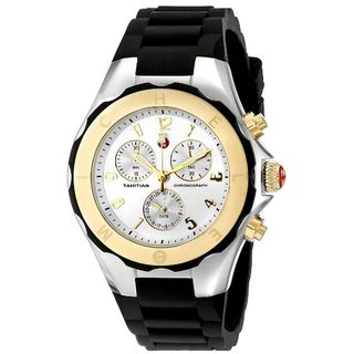 Michele Women's MWW12F000057 'Tahitian Jelly Bean' Chronograph Black Silicone Watch