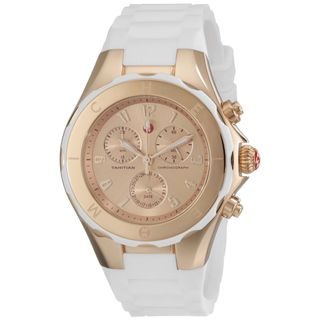 Michele Women's MWW12F000030 'Tahitian Jelly Bean' Chronograph White Silicone Watch