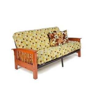 Night And Day Furniture Arbor Full-size Futon Frame with 7-inch Mattress