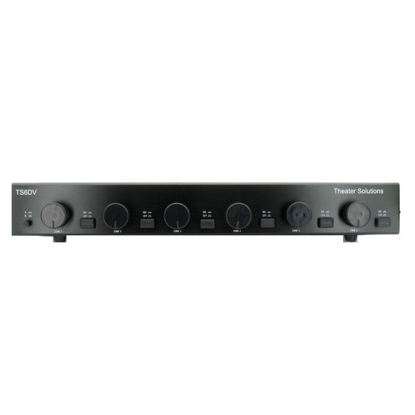 Theater Solutions TS6DV Dual Input 6 Pair Volume Control Speaker Selector Box