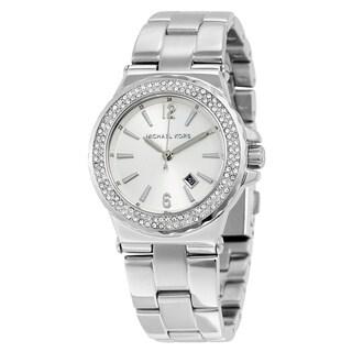 Michael Kors Women's MK6111 Diamond Silver Dial Stainless Steel Bracelet Watch