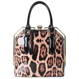 Rimen & Co. Leopard Print Satchel Handbag