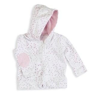 aden + anais Baby Girl's Lovely Mini Heart Newborn Jersey Hoodie