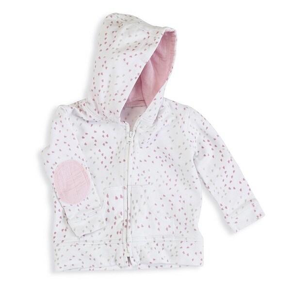 aden + anais Baby Girl'ss Newborn Jersey Hoodie