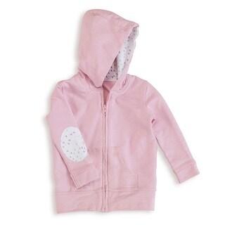 aden + anais Lovely Pink Baby Girl's Newborn Jersey Hoodie