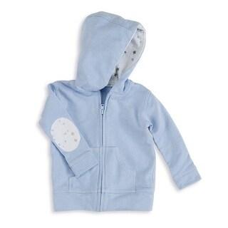 aden + anais Baby Boy's Night Sky Blue Newborn Jersey Hoodie