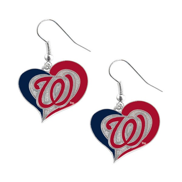 MLB Washington Nationals Swirl Heart Earring Set
