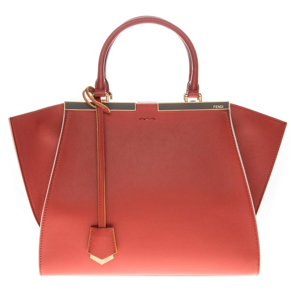 Fendi '3 Jours' Brick Small Leather Shopper Handbag