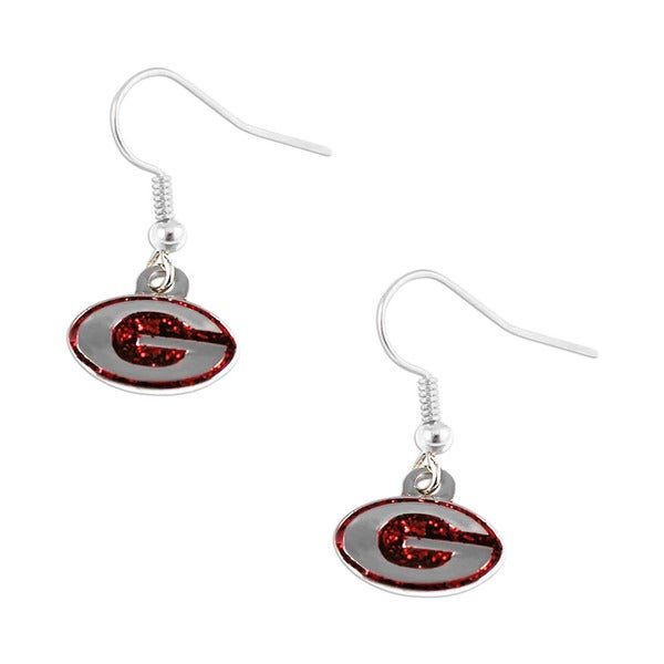 Georgia Bulldogs Glitter Sparkle Dangle Logo Earring Charm Set