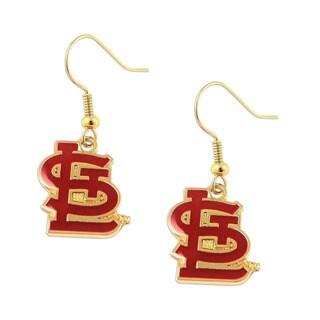 "MLB Sports Team St Louis Cardinals """"stl"""" Dangle Logo Earring Set"