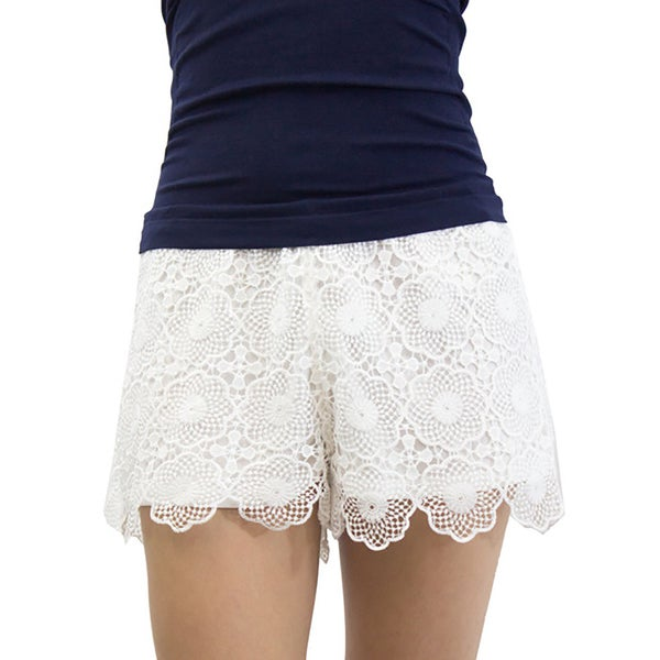 Relished Women's Scalloped Lacewing Shorts