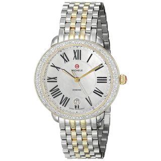 Michele Women's MWW21B000007 'Serein 16' Diamond Two-Tone Stainless Steel Watch