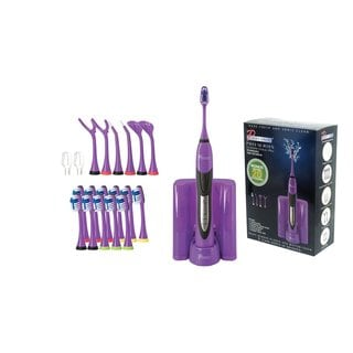 Pursonic S520 Purple Rechargeable Electric Toothbrush with Bonus Value Pack