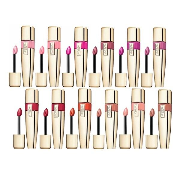 L'Oreal Paris Colour Caresse Wet Shine Lip Stain 12-piece Set