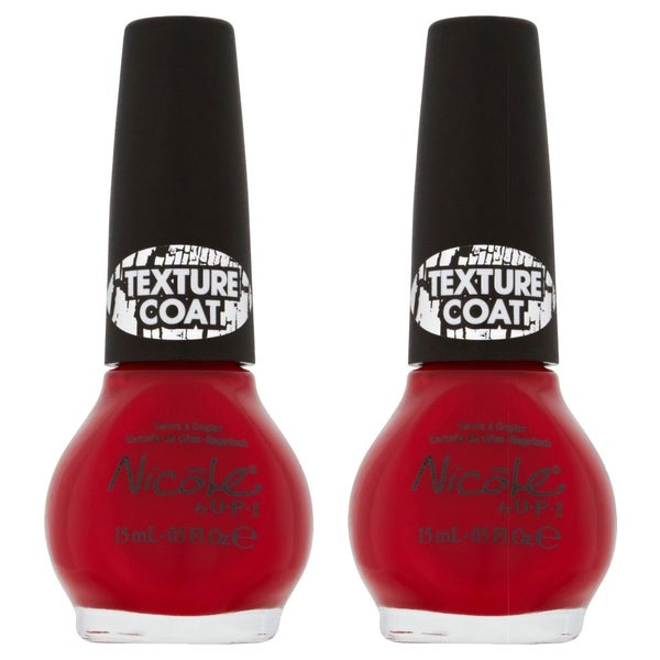 OPI Nicole By OPI Red Texture (Pack of 2)