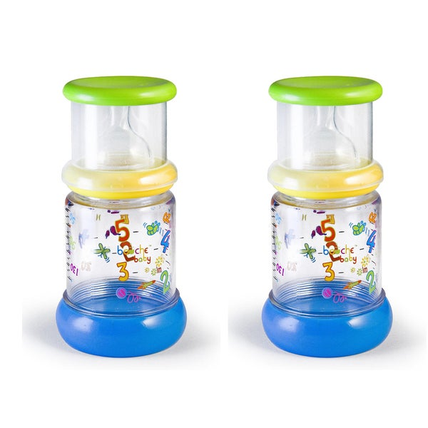 Bouche Baby Take N' Shake 5-ounce Feeding Bottle (Pack of 2)