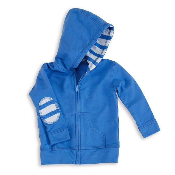 aden + anais Blue Baby Boy's Newborn Jersey Hoodie