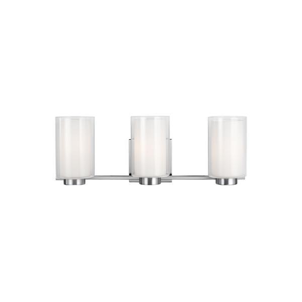 Feiss Bergin 3-light Satin Nickel Vanity