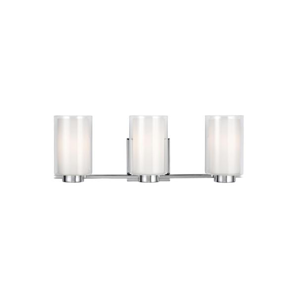 Feiss Bergin 3-light Chrome Vanity