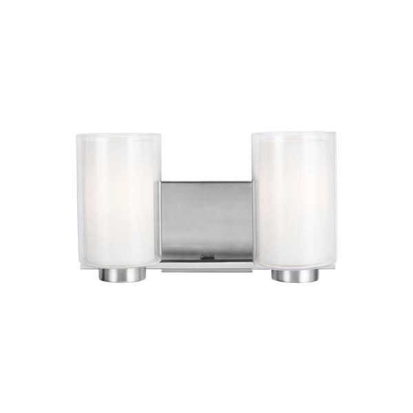 Feiss Bergin 2-light Satin Nickel Vanity