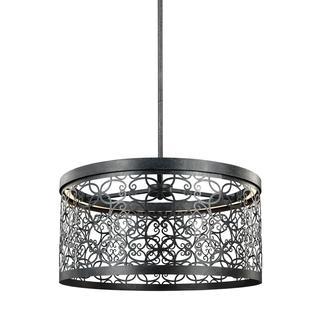 Feiss Arramore 1-light Dark Weathered Zinc Pendant