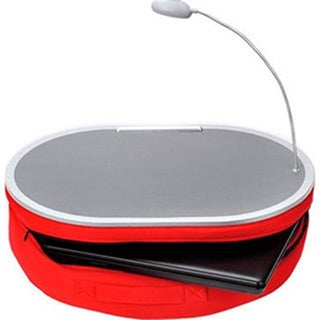 Deluxe Comfort Red Lap Desk with Lamp