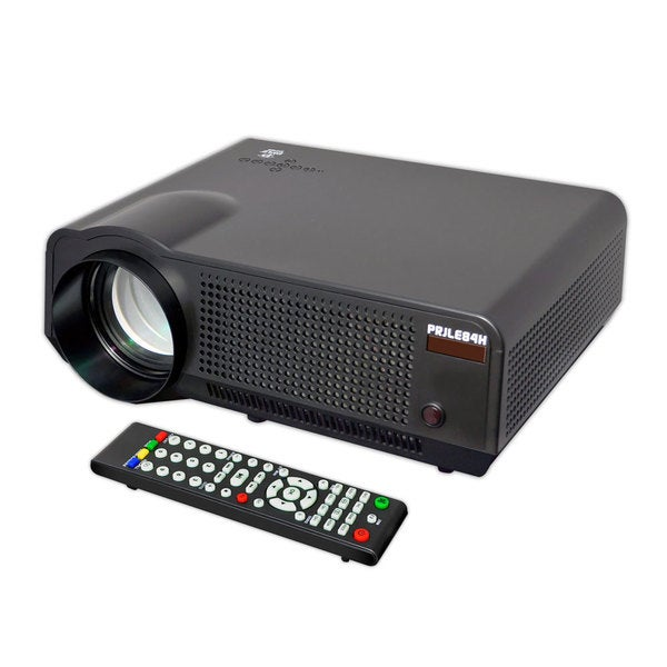 Pyle PRJLE84H High-definition Widescreen Projector with up to 120-Inch Viewing Screen Built-In Speaker and USB