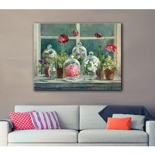 ArtWall Danhui Nai's Purple Poppies Windowsill, Gallery Wrapped Canvas