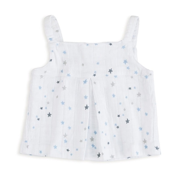 aden + anais Baby Girl's Night Sky Starburst Newborn Muslin Smock Top
