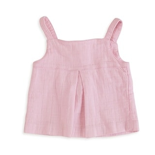 aden + anais Baby Girl's Lovely Pink Newborn Muslin Smock Top