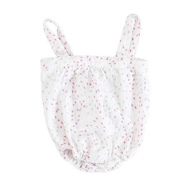 aden + anais Baby Girl's Lovely Mini Heart Newborn Muslin Romper