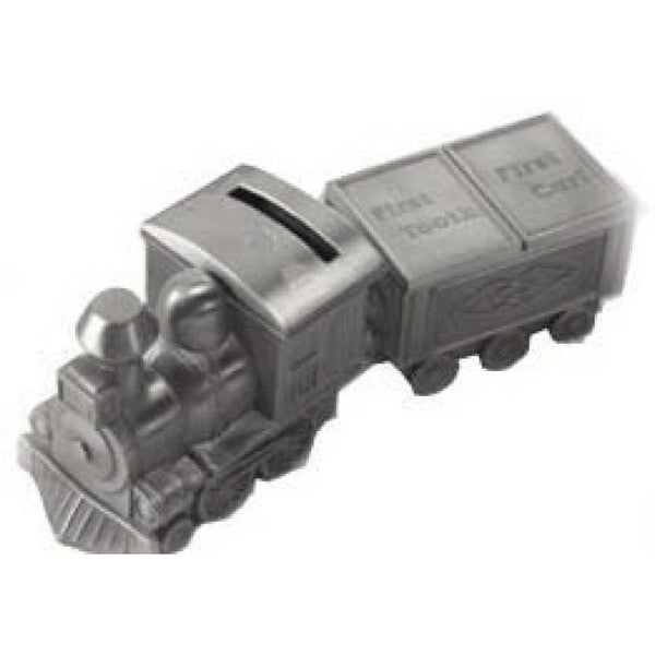 Elegance Pewterplated Train Bank, Tooth and Curl Boxes Set