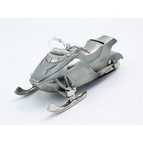 Elegance Pewterplated Snow Mobile Bank