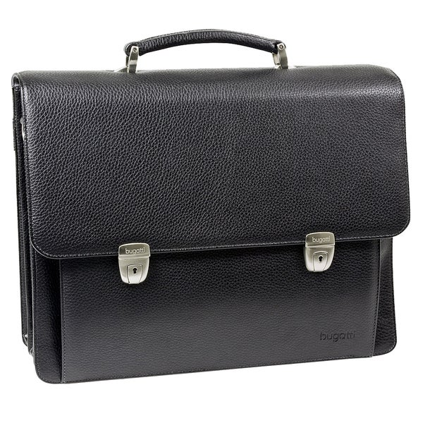 Bugatti Time Black 15-inch Laptop Briefcase