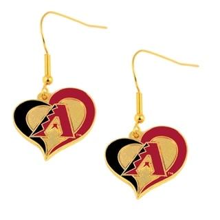 Arizona Diamondbacks Swirl Heart Earring Set