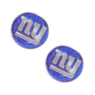 New York Giants Glitter Sparkle Post Stud Logo Earring Set