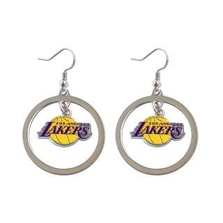 NBA Los Angeles Lakers Hoop Logo Earring Set Silver