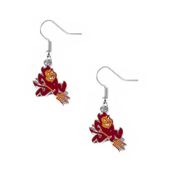 NCAA Sports Team Logo Arizona Sun Devils Fork Dangle Earring Set