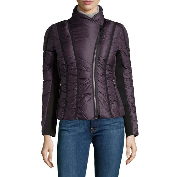 Zac Zac Posen Women's Emily Purple Asymmetrical Zip Jacket