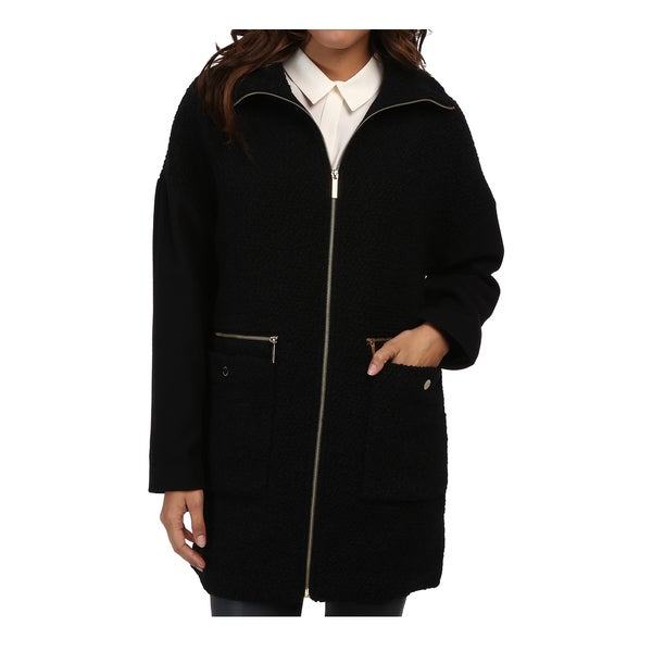 Michael Michael Kors Women's Black Wool Boucle Zip Front Jacket 17133275