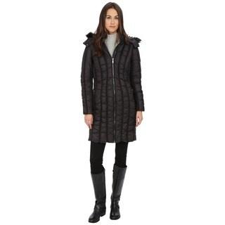 Zac Zac Posen Women's Carla Black Quilted Faux Fur Hooded Coat