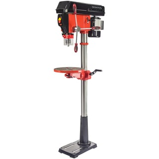 General International 16 Speed Drill Press with Patented Cross-pattern Laser System and LED Lighting