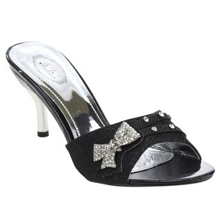 ITALINA DH1536 Women's Sparkle Mule Sandals