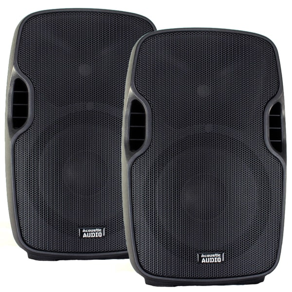 Acoustic Audio Aa10ub Powered 1400 Watts 10-inch Bluetooth Speaker Pair 2 Way Usb Mp3 Player New Aa10ub-pr